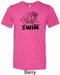 Mens Black Penguin Power Swim Tri Blend Tee