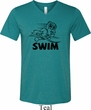 Mens Black Penguin Power Swim Tri Blend V-neck