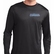Mens Blue Dodge Charger Pocket Print Dry Wicking Long Sleeve Shirt