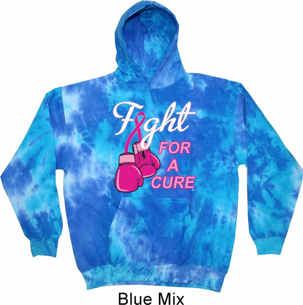 Mens Breast Cancer Awareness Hoodie Fight For A Cure Tie