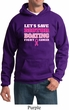 Mens Breast Cancer Awareness Hoodie Motor Boating Hoody