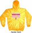Mens Breast Cancer Awareness Hoodie Motor Boating Tie Dye Hoody