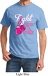 Mens Breast Cancer Awareness Shirt Fight For a Cure Tee T-Shirt