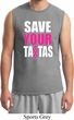 Mens Breast Cancer Awareness Shirt Save Your Tatas Muscle Tee T-Shirt