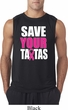 Mens Breast Cancer Awareness Shirt Save Your Tatas Sleeveless Tee