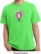 Mens Breast Cancer Awareness Shirt Think Pink Pigment Dyed Tee T-Shirt