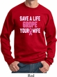 Mens Breast Cancer Awareness Sweatshirt Grope Your Wife Sweat Shirt
