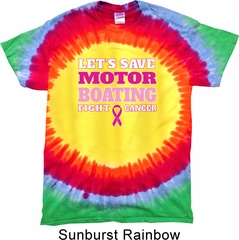 Mens Breast Cancer Shirt Motor Boating Premium Tie Dye Tee T-shirt