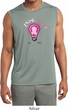 Mens Breast Cancer Think Pink Sleeveless Moisture Wicking Tee T-Shirt
