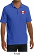 Mens Canada Polo Canadian Flag Pocket Print Pique Polo Shirt