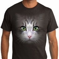 Mens Cat Shirt Big Cat Face Organic T-Shirt