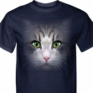 Mens Cat Shirt Big Cat Face Tall Tee T-Shirt