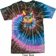 Mens Cat Shirt Blue Eyes Cat Tie Dye Tee T-shirt