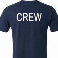 Mens Crew Back Print Tri Blend Shirt