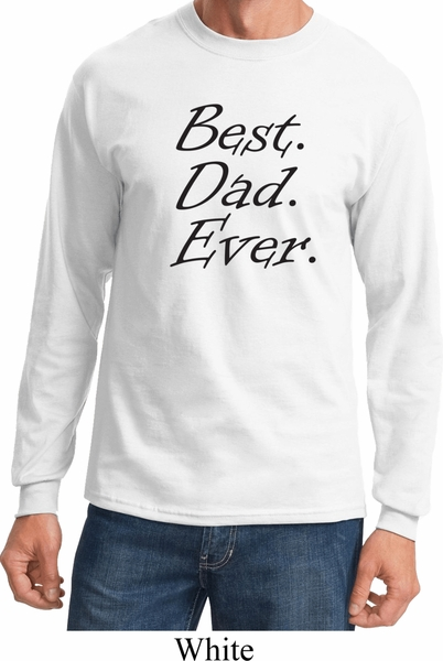 Mens dad shirt best dad ever black print long sleeve tee t for Best place to buy mens t shirts