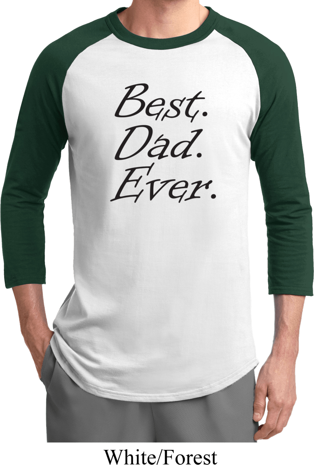 Mens dad shirt best dad ever black print raglan tee t for Best place to buy mens t shirts