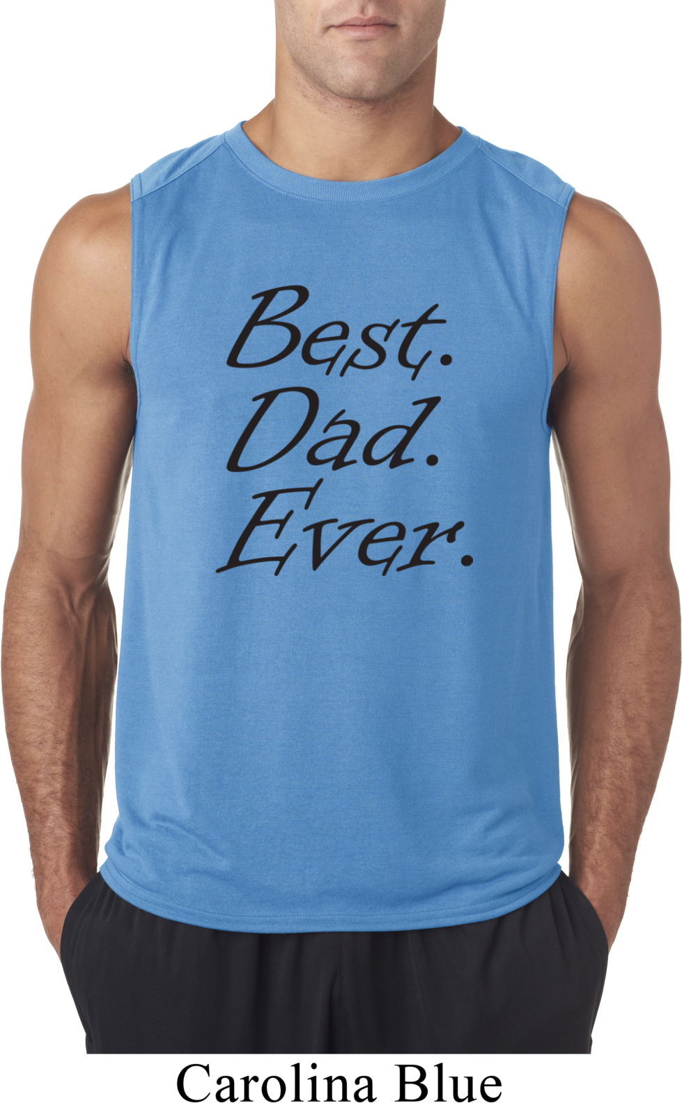 Mens dad shirt best dad ever black print sleeveless tee t for Best place to buy mens t shirts