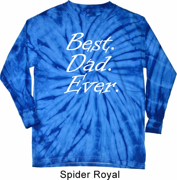 Mens dad shirt best dad ever white print long sleeve tie for Best white t shirt mens