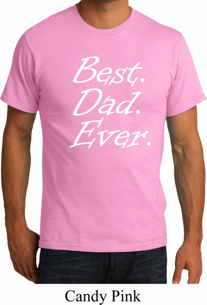 Mens dad shirt best dad ever white print organic tee t for Best place to buy mens t shirts