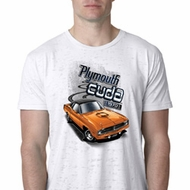Mens Dodge 1970 Plymouth Hemi Cuda Burnout Shirt