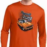 Mens Dodge 1970 Plymouth Hemi Cuda Dry Wicking Long Sleeve Shirt