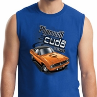 Mens Dodge 1970 Plymouth Hemi Cuda Muscle Shirt
