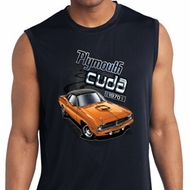 Mens Dodge 1970 Plymouth Hemi Cuda Sleeveless Dry Wicking Shirt