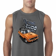 Mens Dodge 1970 Plymouth Hemi Cuda Sleeveless Shirt