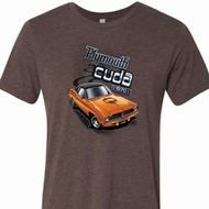 Mens Dodge 1970 Plymouth Hemi Cuda Tri Blend Crewneck Shirt