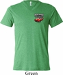 Mens Dodge American Made Muscle Pocket Print Tri Blend V-neck Shirt