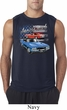 Mens Dodge American Muscle Blue and Red Sleeveless Shirt