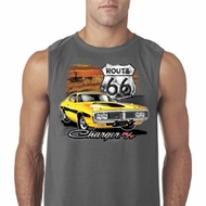 Mens Dodge Route 66 Charger RT Sleeveless Shirt