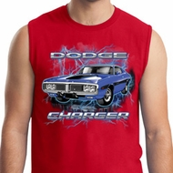 Mens Dodge Shirt Blue Dodge Charger Muscle Tee T-Shirt