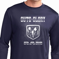 Mens Dodge Shirt Guts and Glory Ram Logo Dry Wicking Long Sleeve Tee