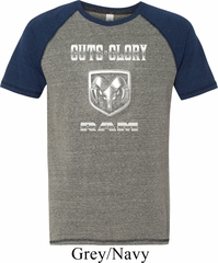 Mens Dodge Shirt Guts and Glory Ram Logo Tri Blend Tee T-Shirt