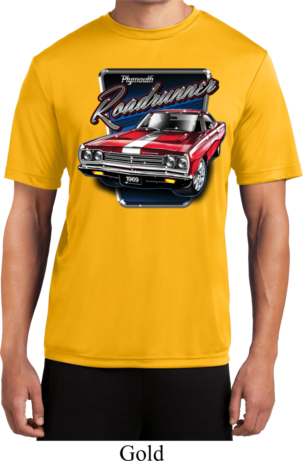 Mens dodge shirt plymouth roadrunner moisture wicking tee for Sweat wicking t shirts