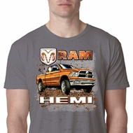 Mens Dodge Shirt Ram Hemi Trucks Burnout Tee T-Shirt