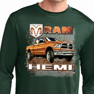 Mens Dodge Shirt Ram Hemi Trucks Dry Wicking Long Sleeve Tee T-Shirt