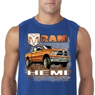 Mens Dodge Shirt Ram Hemi Trucks Sleeveless Tee T-Shirt