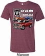 Mens Dodge Shirt Ram Trucks Tri Blend Crewneck Tee T-Shirt