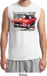 Mens Dodge Shirt Red Challenger White Muscle Tee T-Shirt