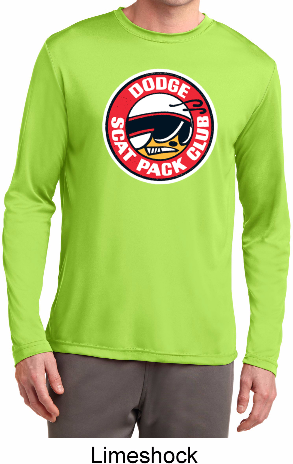 Mens dodge shirt scat pack club dry wicking long sleeve for T shirts for clubs