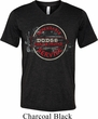 Mens Dodge Shirt Vintage Dodge Sign Tri Blend V-neck Tee T-Shirt