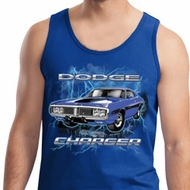 Mens Dodge Tanktop Blue Dodge Charger Tank Top