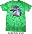 Mens Dolphin Shirt Big Dolphin Face Spider Tie Dye Tee T-shirt