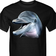 Mens Dolphin Shirt Big Dolphin Face Tall Tee T-Shirt