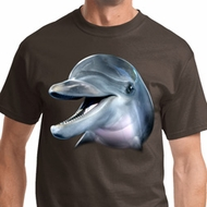 Mens Dolphin Shirt Big Dolphin Face Tee T-Shirt