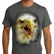 Mens Eagle Shirt Big Eagle Face Organic T-Shirt