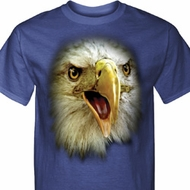 Mens Eagle Shirt Big Eagle Face Tall Tee T-Shirt