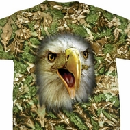 Mens Eagle Shirt Big Eagle Face Tie Dye T-shirt